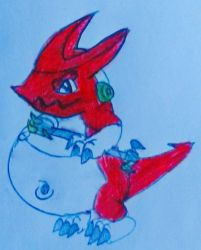 request 177:chubby shoutmon by s3be