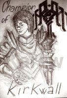 Da2: Champion of Kirkwall by Karew
