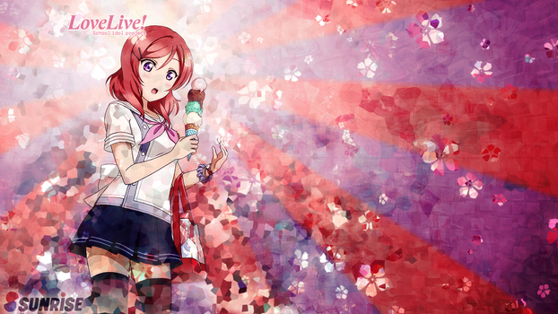 Love Live! wallpaper - Maki Nishikino (Logos) by umi-no-mizu