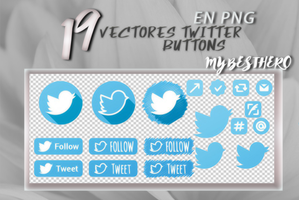 +Vectores Twitter Buttons I [FREE] by SadFeminazi