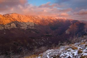 Velebit painted in red by ivancoric