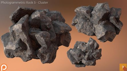 [Free] Photogrammetric Rock 5 - Cluster by Yughues