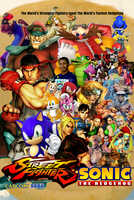 Street Fighter/Sonic the Hedgehog Poster by AwesomeOKingGuy0123