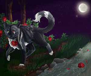 Midnight Stroll - comm. - by TheMoonfall