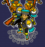 Coyolxauhqui and her brothers by nosuku-k