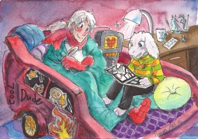 SurfaceTale: Asriel and Papyrus with comix by TiamatART