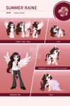 Summer Raine Reference Sheet by Centchi