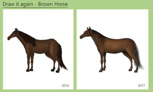 Draw it Again - Brown Horse by Louisetheanimator