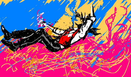 Psychedelic Surfing - MS Paint by PublicArtMunkie