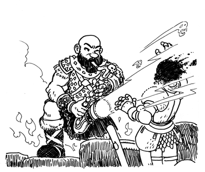 InkTober 2015 Day 7 by Arianod