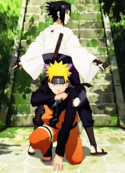 Naruto and Sasuke!!! by eikens