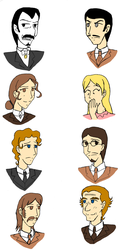 Dracula characters by StrixVanAllen
