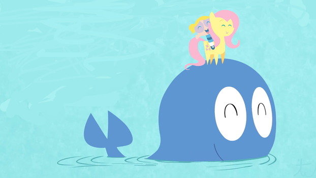 Fluttershy, Bubbles, and The Whale by TaxRevenue