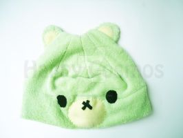 Mint Bear Hat by CosmiCosmos