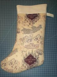 Marauders Map  Stocking by Nerdy-Crafting-Duo