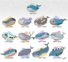 All Wailord variations