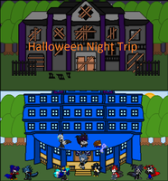 Halloween Night Trip cover by BluethornWolf
