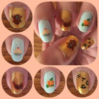 ThanksGiving NailArt 2017 left by MikariStar