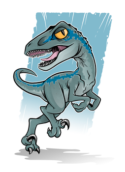 Chibi Blue Raptor by Miguelhan