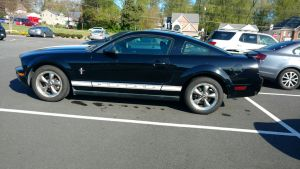 Black Mustang With Dual White Stripes by OtakuDude83