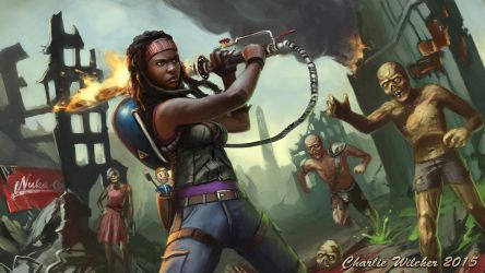 Michonne and the Shish Kabob by CharlieWilcher