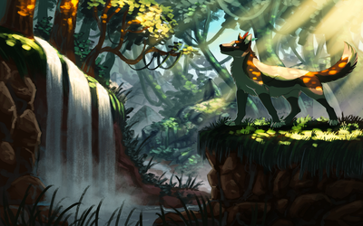 Jungle Ruins [COMMISSION] by ARVEN92