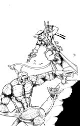 Daemone vs Demon B and W by MKBessette