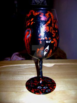 Hellsing Wine Glass Alucard by Hold-Your-Fire