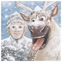 Frozen - Kristoff and Sven by Kc-Eazyworld