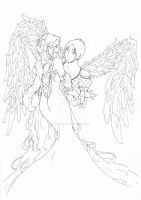 Prom angels - Lineart by HanaKo-Hyuuga