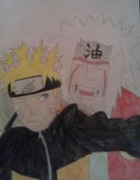 Naruto and Jiraiya by juliegregersen
