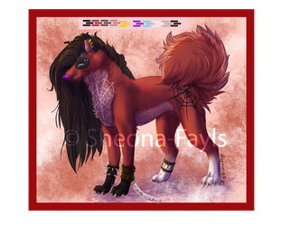 RedAdopable - only paypal Auction  (OPEN) by Sheona-Fayls