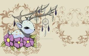 Dreamcatcher Deer by biancaloran