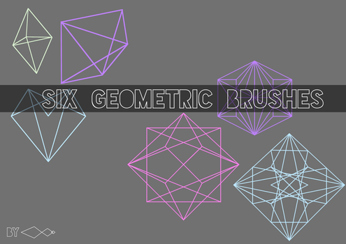 Six Geometric Brushes For Gimp by 00ANT