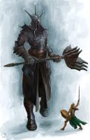 Morgoth and Fingolfin by MilonasDionisis