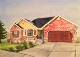 House in Watercolors by tadamson