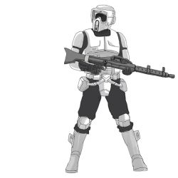 Starwars doodle Scout trooper by sharknob
