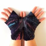 Hyperspace Starburst Fingerless Gloves by FearlessFibreArts