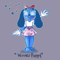 Winter Puppy by BrownieWuverr