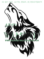 Proud Howling Wolf Head Tattoo by WildSpiritWolf