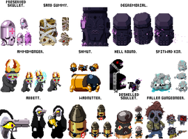 Enter the Gungeon: EVEN MORE New Enemies by TitaniumGrunt7