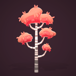 Cartoon Birch Tree | Digital 3D Speed Art by Alina-207