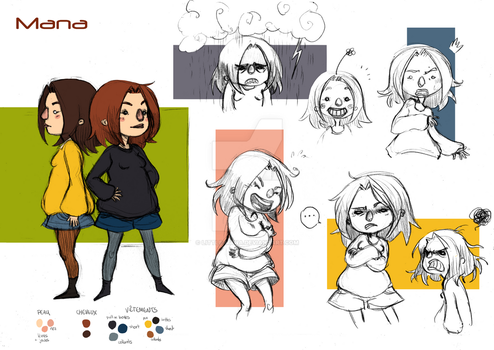 Mana - Modelsheet / Brainstorming project by Little-Mana