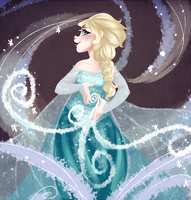 Queen Elsa by WuggyPants