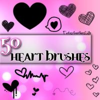 Heart Brushes by AnotherLiife