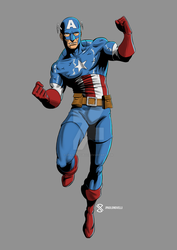 Captain America by jpaolonovelli