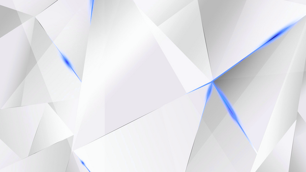 Wallpapers - Blue Abstract Polygons (White BG) by kaminohunter