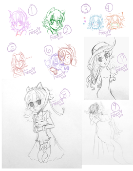 Pokecino Sketch Dump #2 by Foxuuu