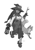 second little witch by isawic