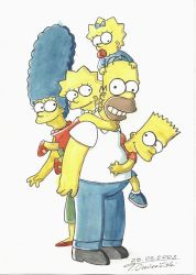 the Simpsons by TomekO